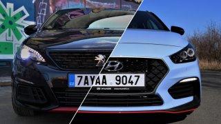 Peugeot 308 GTi vs. Hyundai i30 N Performance: ikonu vyzval nováček z Česka, který překvapil svět