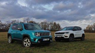 Jeep Renegade 4xe a Jeep Compass 4xe