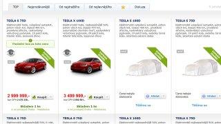 Alza začala prodávat elektromobily Tesla 1