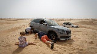Kodiaq ale padl na kámen, promiňte na písek