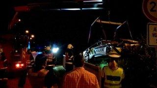 Nabourané policejní BMW i8 1