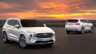 Modernizovaný Hyundai Santa Fe vypadá spíš jako zbrusu nový model. A nejen vypadá