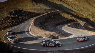 Audi e-tron test rekuperace na PikesPeaku
