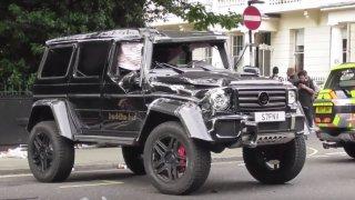 Prius při nehodě převrátil Brabus G500 4x4² - Obrá