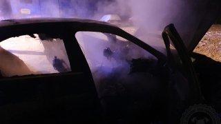 hořící BMW