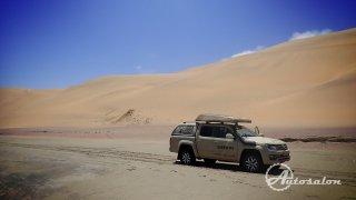 Duny se zvedají až do 100 metrů nad mořem