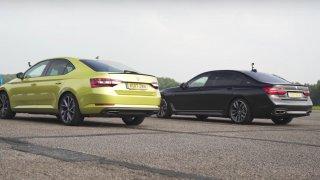 Superb versus dvanáctiválcová limuzína od BMW. Srování padlé na hlavu?