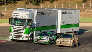Servisní kamion pro Škoda Motorsport