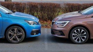 Kombíky Peugeot 308 a Renault Mégane se utkaly v derby. Jak dopadl mač úsporných naftových motorů?